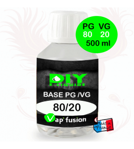 Base neutre - 500 ml- PG/VG - 80/20 - DIY E LIQUIDE - Vapfusion