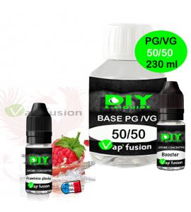 Pack e-liquide DIY facile 230ml - base, arôme et booster  Vap'Fusion