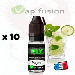 Lot de 10 Mojito - arôme concentré - 10 ml - DIY - Vapfusion