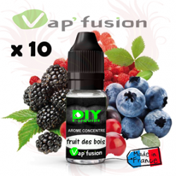 Lot de 10 Fruits des bois - arôme concentré - 10ml - Diy - Vapfusion