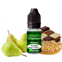 E liquide crumble poire-choco-10ml- Vapfusion
