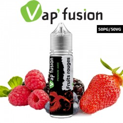 E liquide Vapfusion 50 ml - Fruits rouges - Prêt à booster