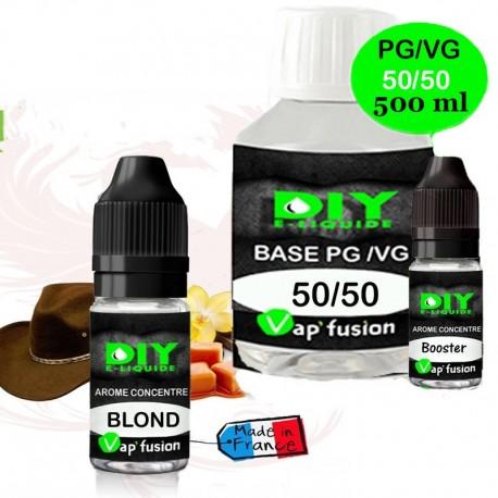 Pack e-liquide DIY Facile 500 ml - base , booster et arôme