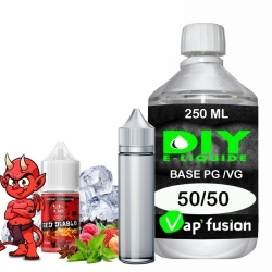 Pack e-liquide DIY Facile Red Diablo arôme concentré - Base PG/VG 250ML + Flacon vide 50 ml