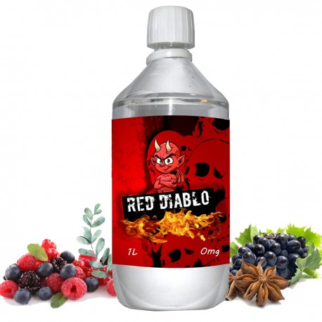 E liquide Red Diablo - 1 l - 50/50 PG/VG - 1 000 ML - Fruits rouges raisin eucalyptys anis