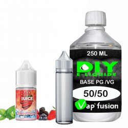 Pack e-liquide DIY Facile Red Juice arôme concentré - Base PG/VG 250ML + Flacon vide 50 ml