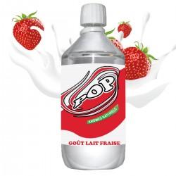 E liquide POP -  1 l - 50/50 PG/VG - 1 000 ML - Lait Fraise